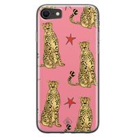 Casimoda iPhone SE 2020 siliconen hoesje - The pink leopard