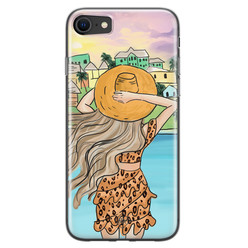 Casimoda iPhone SE 2020 siliconen hoesje - Sunset girl