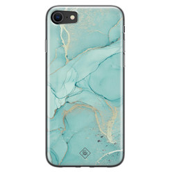 Casimoda iPhone SE 2020 siliconen hoesje - Touch of mint