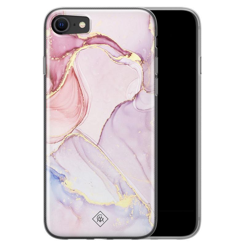 Casimoda iPhone SE 2020 siliconen hoesje - Purple sky