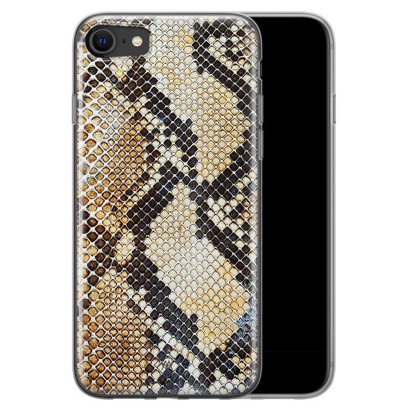 Casimoda iPhone SE 2020 siliconen hoesje - Golden snake