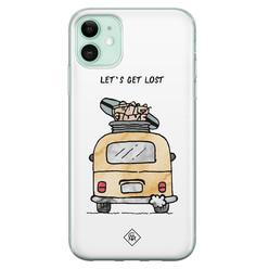 Casimoda iPhone 11 siliconen hoesje - Let's get lost