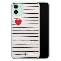 Casimoda iPhone 11 siliconen hoesje - Heart queen