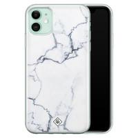 Casimoda iPhone 11 siliconen hoesje - Marmer grijs