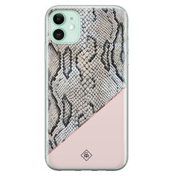 Casimoda iPhone 11 siliconen hoesje - Snake print