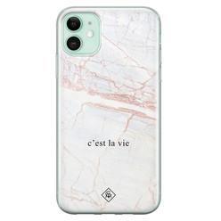 Casimoda iPhone 11 siliconen hoesje - C'est la vie
