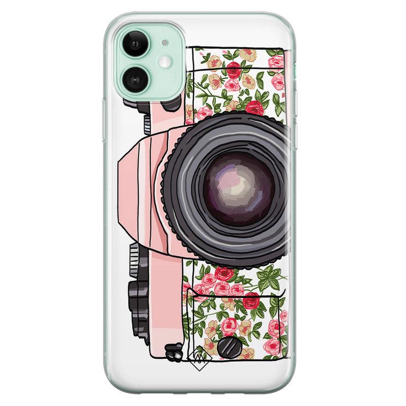 Casimoda iPhone 11 siliconen telefoonhoesje - Hippie camera
