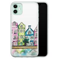 Casimoda iPhone 11 siliconen telefoonhoesje - Amsterdam