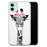 Casimoda iPhone 11 siliconen telefoonhoesje - Giraffe