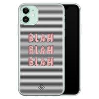 Casimoda iPhone 11 siliconen telefoonhoesje - Blah blah blah