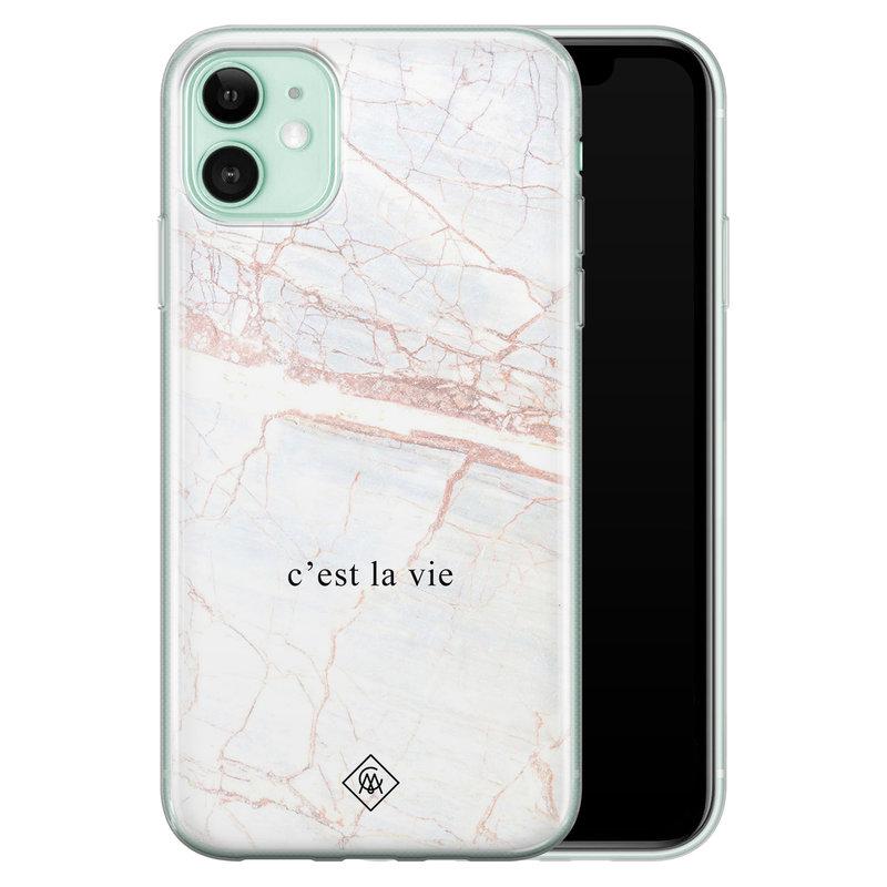 Casimoda iPhone 11 siliconen telefoonhoesje - C'est la vie
