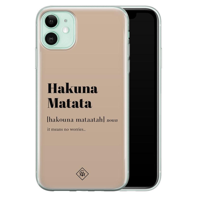 Casimoda iPhone 11 siliconen hoesje - Hakuna matata