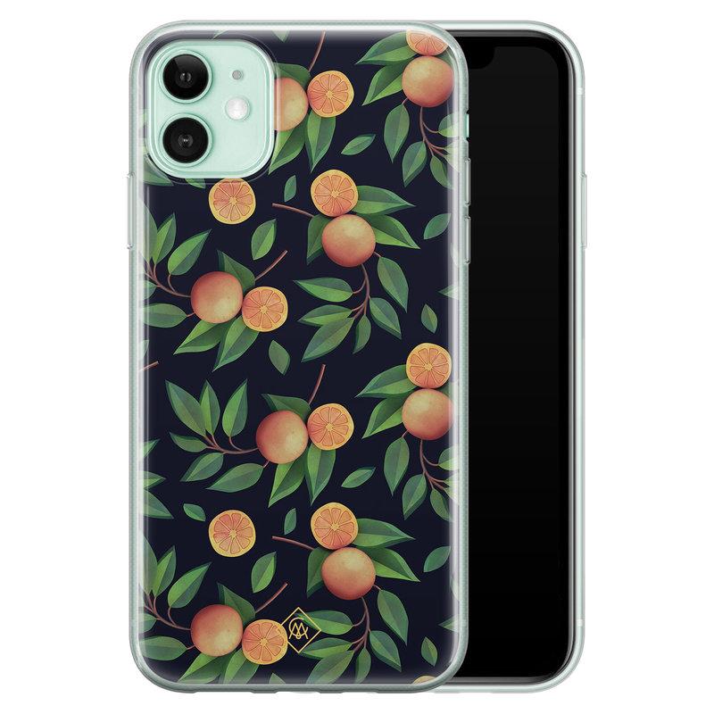 Casimoda iPhone 11 siliconen hoesje - Orange lemonade