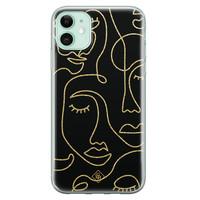 Casimoda iPhone 11 siliconen hoesje - Abstract faces