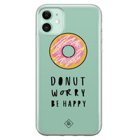 Casimoda iPhone 11 siliconen hoesje - Donut worry