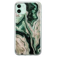 Casimoda iPhone 11 siliconen hoesje - Green waves