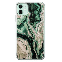 Casimoda iPhone 11 siliconen hoesje - Green waves