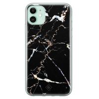 Casimoda iPhone 11 siliconen hoesje - Marmer zwart