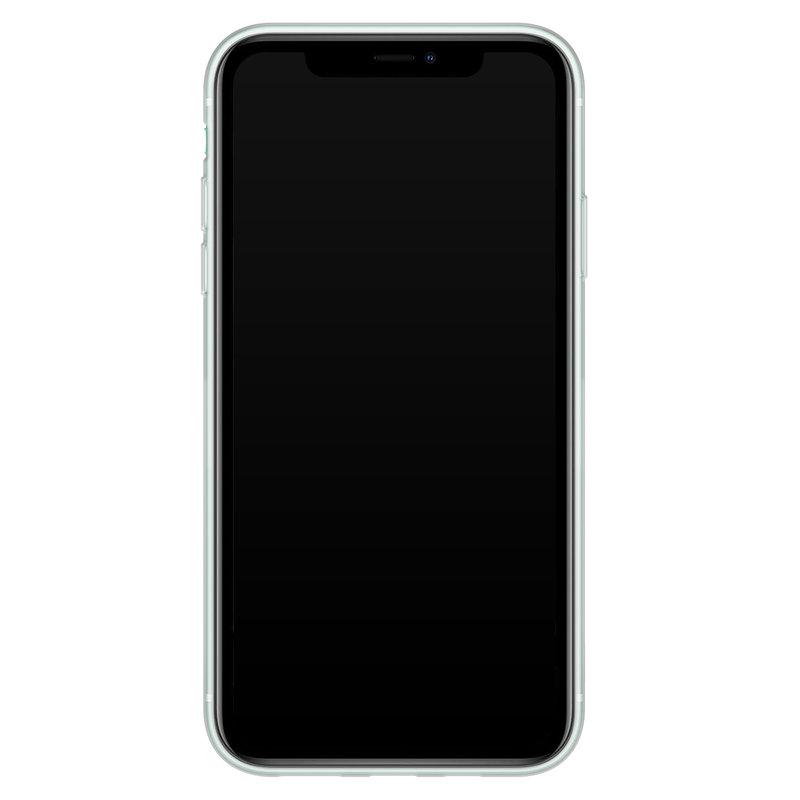 Casimoda iPhone 11 siliconen telefoonhoesje - Hart streepjes