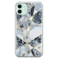 Casimoda iPhone 11 siliconen hoesje - Marmer blauw