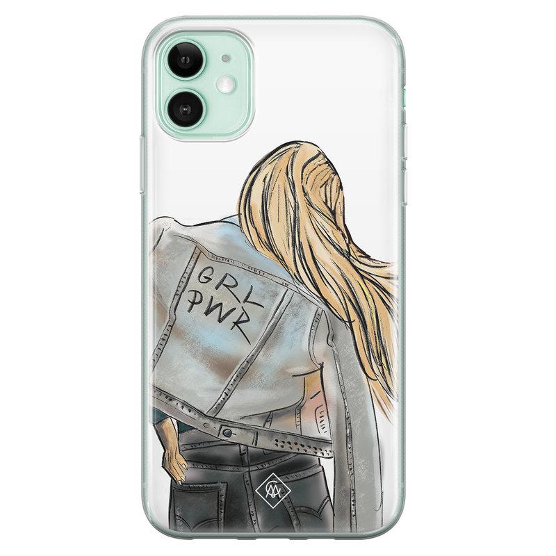 Casimoda iPhone 11 siliconen hoesje - GRL PWR