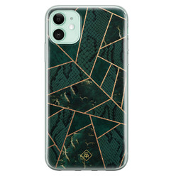 Casimoda iPhone 11 siliconen hoesje - Abstract groen