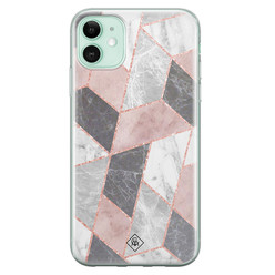 Casimoda iPhone 11 siliconen hoesje - Stone grid