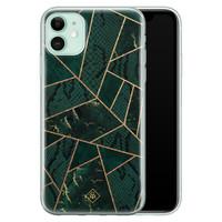 Casimoda iPhone 11 siliconen hoesje - Abstract groen