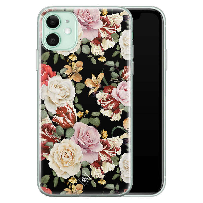 Casimoda iPhone 11 siliconen hoesje - Flowerpower