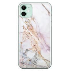 Casimoda iPhone 11 siliconen hoesje - Parelmoer marmer