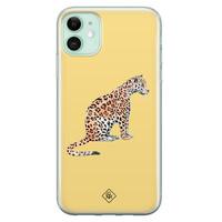 Casimoda iPhone 11 siliconen hoesje - Leo wild
