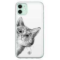 Casimoda iPhone 11 siliconen hoesje - Peekaboo