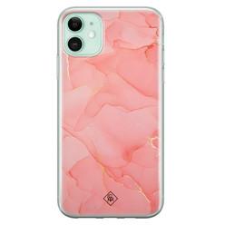 Casimoda iPhone 11 siliconen hoesje - Marmer roze