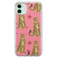 Casimoda iPhone 11 siliconen hoesje - The pink leopard