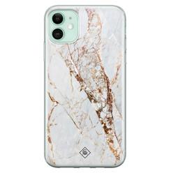 Casimoda iPhone 11 siliconen hoesje - Marmer goud