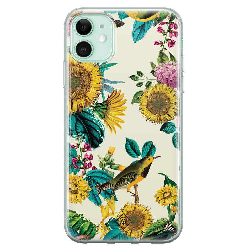 Casimoda iPhone 11 siliconen hoesje - Sunflowers