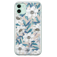 Casimoda iPhone 11 siliconen telefoonhoesje - Touch of flowers