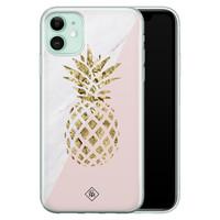 Casimoda iPhone 11 siliconen hoesje - Ananas