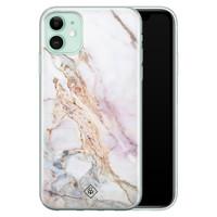 Casimoda iPhone 11 siliconen telefoonhoesje - Parelmoer marmer