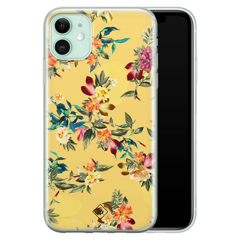 Casimoda iPhone 11 siliconen hoesje - Floral days