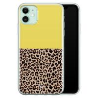 Casimoda iPhone 11 siliconen hoesje - Luipaard geel