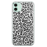 Casimoda iPhone 11 siliconen telefoonhoesje - Luipaard grijs