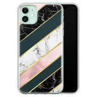 Casimoda iPhone 11 siliconen hoesje - Marble stripes