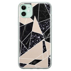 Casimoda iPhone 11 siliconen hoesje - Abstract painted