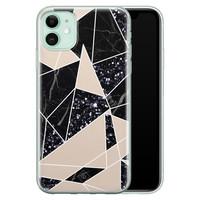 Casimoda iPhone 11 siliconen telefoonhoesje - Abstract painted