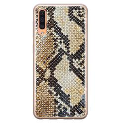 Casimoda Samsung Galaxy A50/A30s siliconen hoesje - Golden snake
