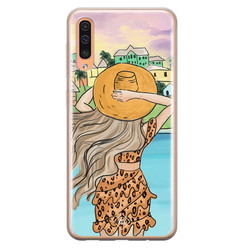 Casimoda Samsung Galaxy A50/A30s siliconen hoesje - Sunset girl