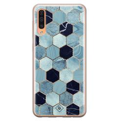 Casimoda Samsung Galaxy A50/A30s siliconen hoesje - Blue cubes