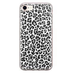 Casimoda iPhone 8/7 siliconen hoesje - Luipaard grijs