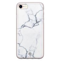 Casimoda iPhone 8/7 siliconen hoesje - Marmer grijs